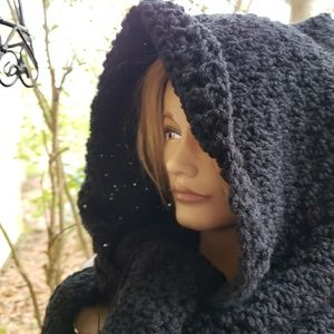 Handmade hooded scarf
